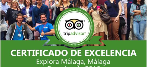 Certificado de excelencia Tripadvisor Málaga