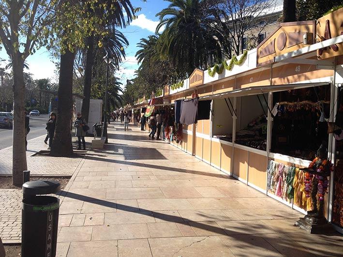 christmas markets in Málaga Paseo del Parque