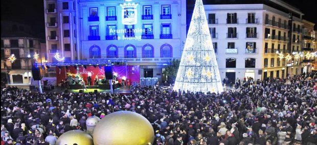 Nochevieja en Málaga Plaza de la Constitución