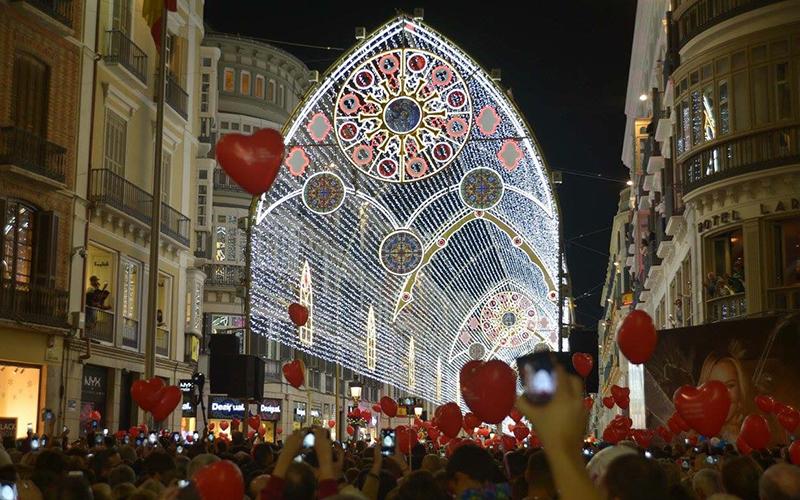 alumbrado de Navidad de Málaga 2018