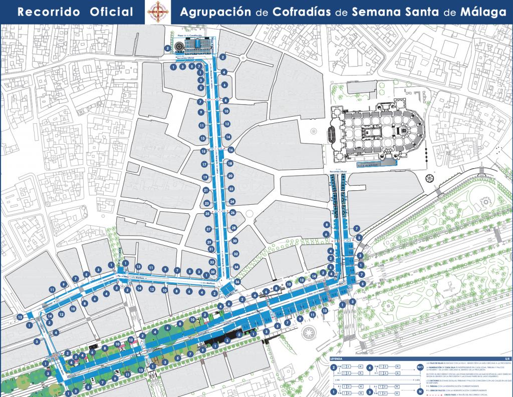 Nuevo itinerario de Semana Santa de Málaga