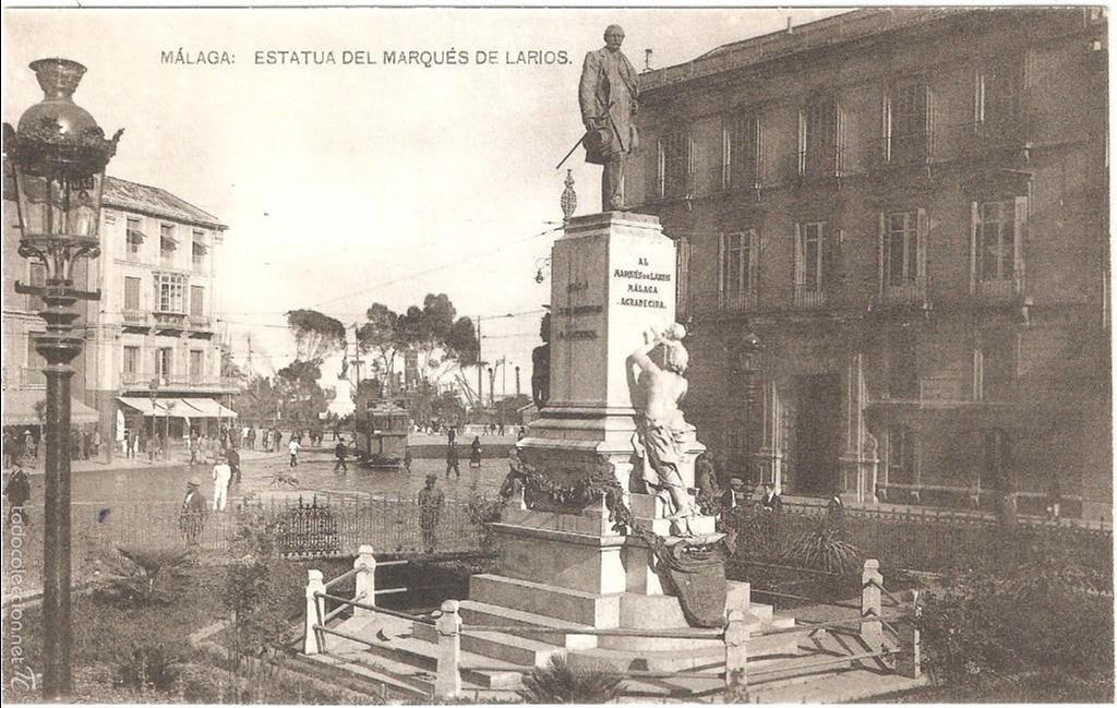 estatua antigua larios Malaga