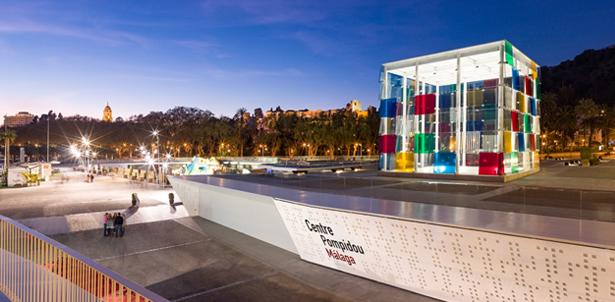 Centre Pompidou Malaga noche
